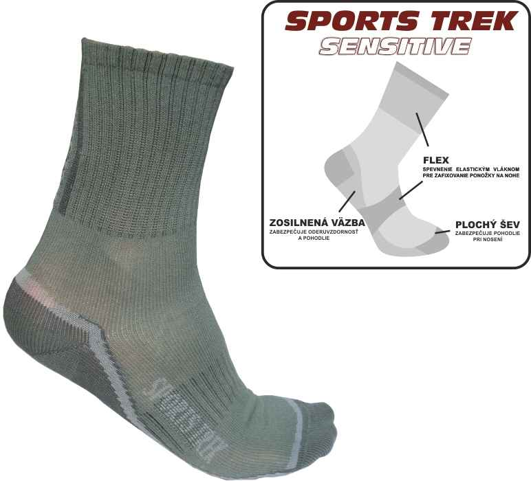 Thermo ponožky SPORTS Trek Sensitive 37-40