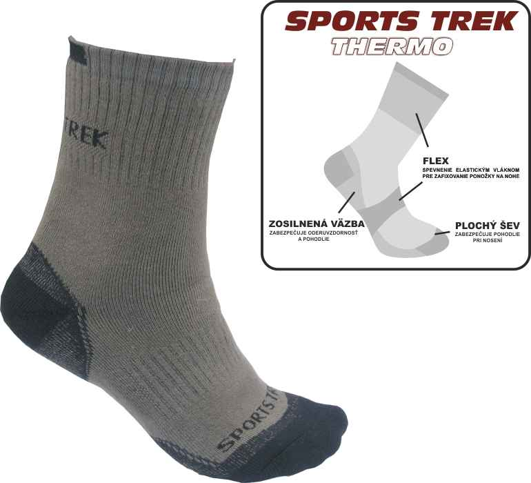 Thermo ponožky SPORTS Trek Thermo 37-40
