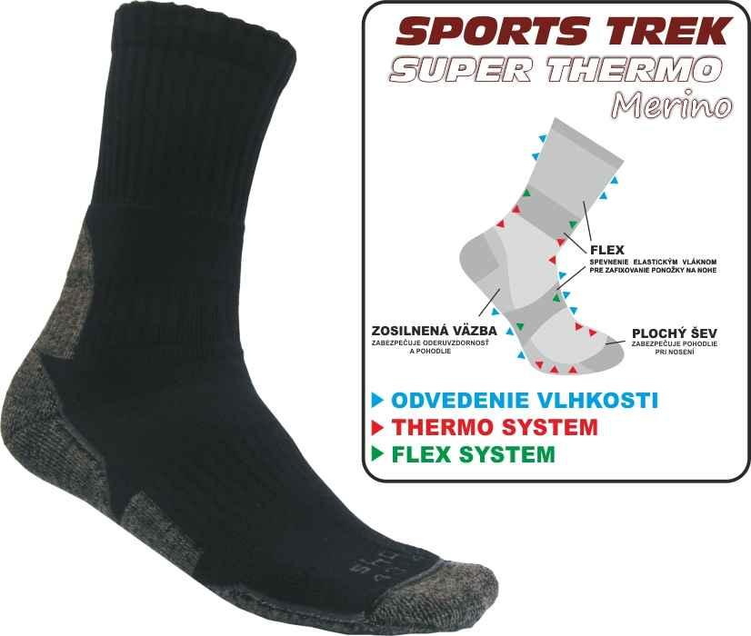 Ponožky SPORTST REK SUPER THERMO Merino 37-40