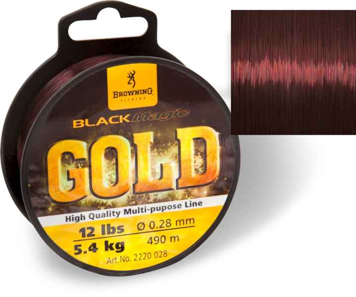 Feeder silon Black Magic® GOLD mono - tmavě hnědý 490m 0,27mm / 5,70kg