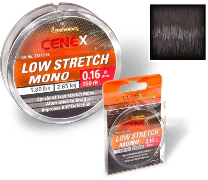 Feeder silon Cenex Low Stretch mono - černý 150m 0,26mm / 7,15kg
