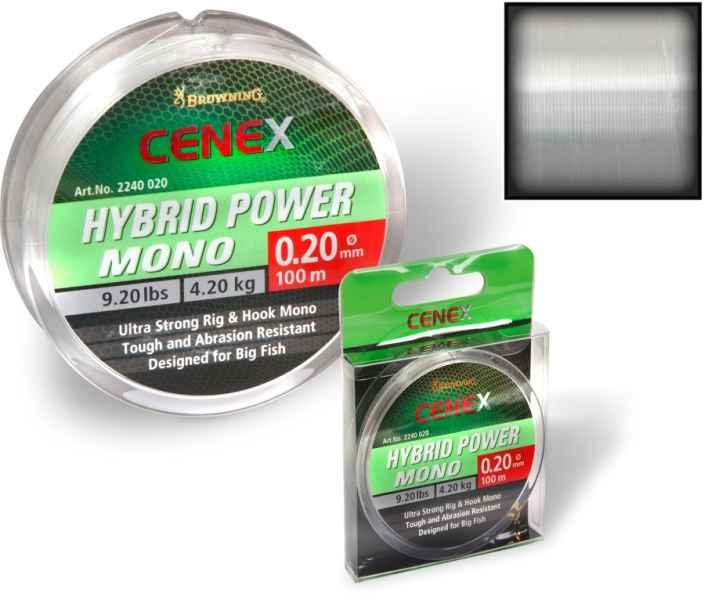 Browning Cenex feeder silon - Hybrid Power Mono 100m 0,20mm