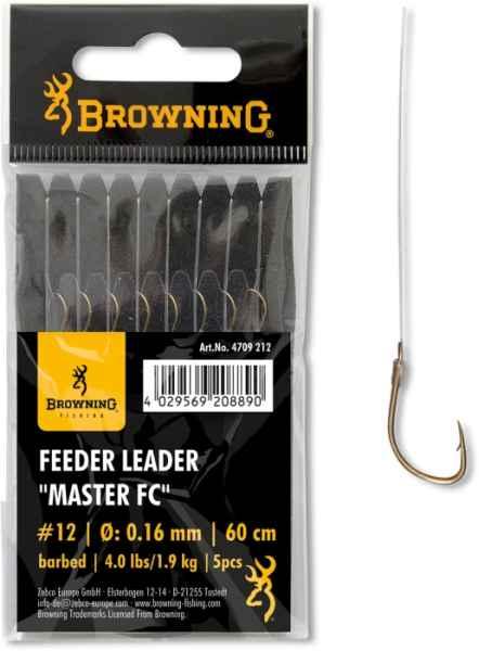 Feeder návazec Browning Feeder Leader MASTER FC 0,12mm/1,10kg háčik #1
