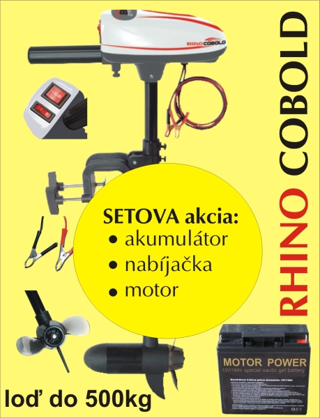 Rhino set Cobold + akumulator 17Ah/12V + nabíječka