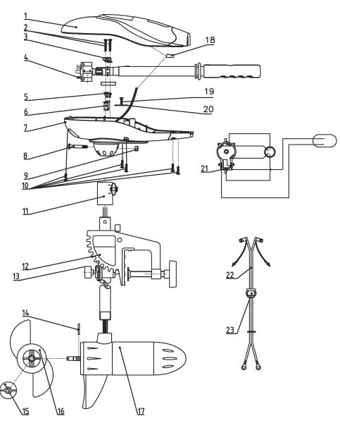 Lodní elektromotor Rhino VX - náhradní díl 44 9925614 - Lodný elektromotor Rhino VX - náhradný diel