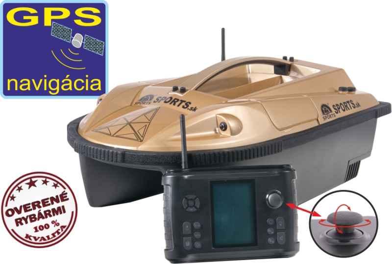 Zavážecí loďka Prisma 5G3 se sonarem a GPS