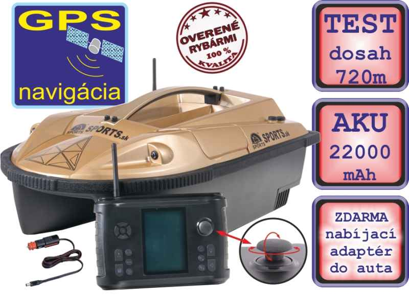 Zavážecí loďka Prisma 5G3 se sonarem a GPS - SET