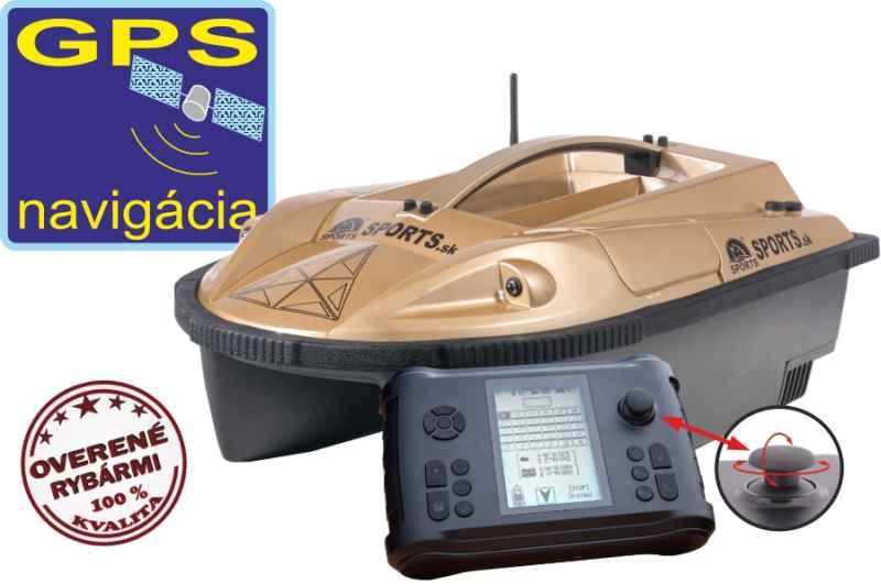 Zavážecí loďka Prisma 6 se sonarem a GPS