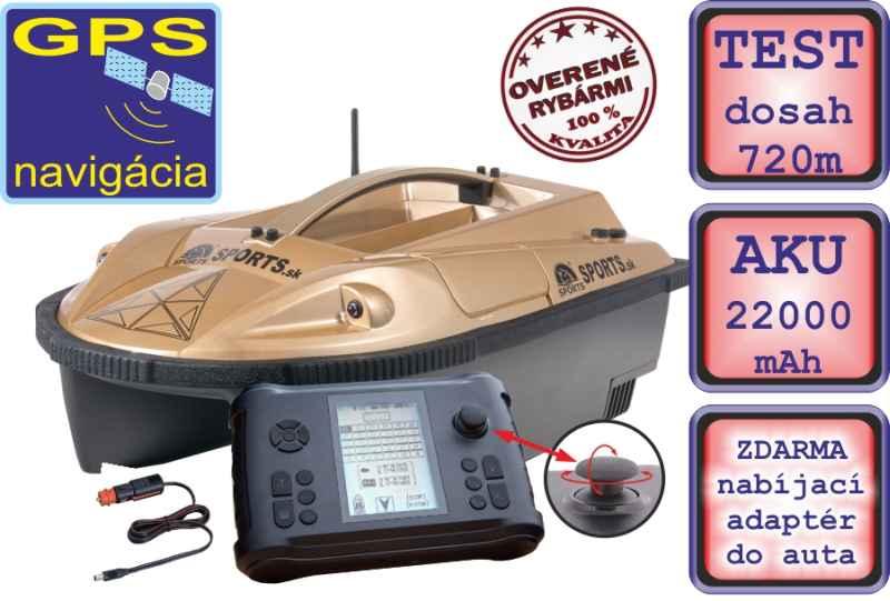 Zavážecí loďka Prisma 6 se sonarem a GPS - SET