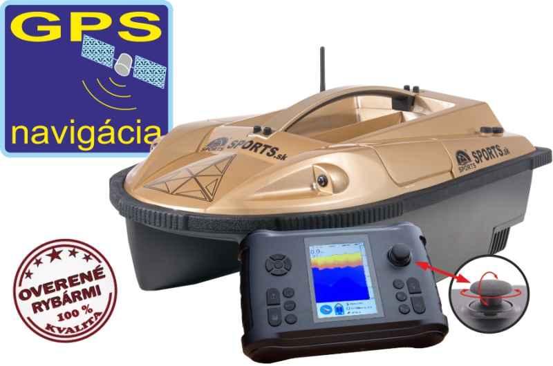 Zavážecí loďka Prisma 7G se sonarem a GPS