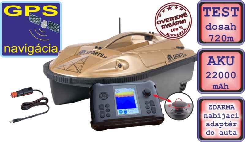 Zavážecí loďka Prisma 7G se sonarem a GPS-SET