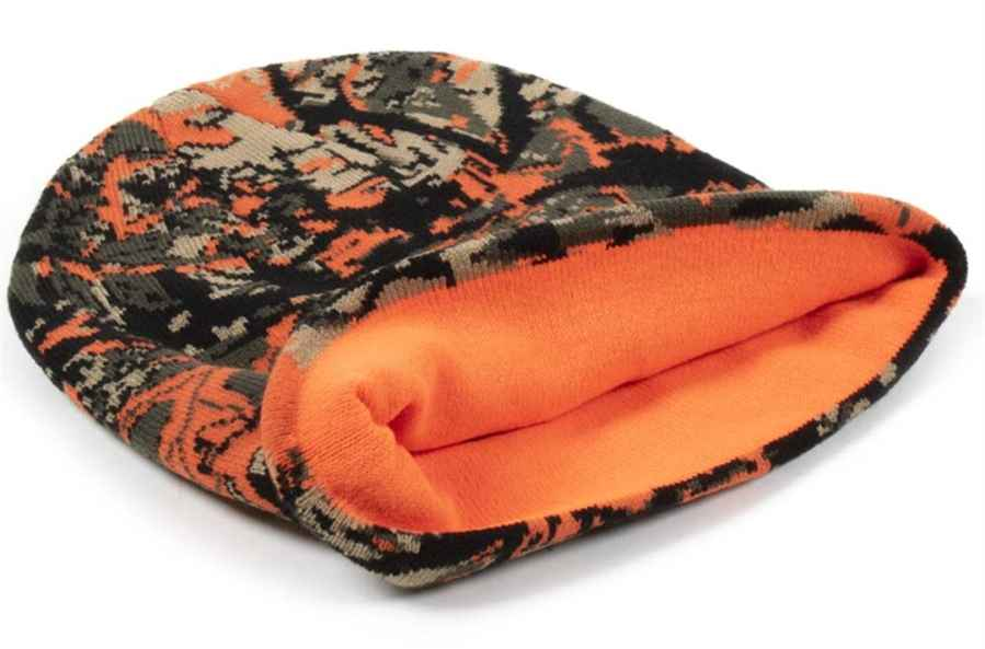Rybářská čepice maskáčová - oranžová