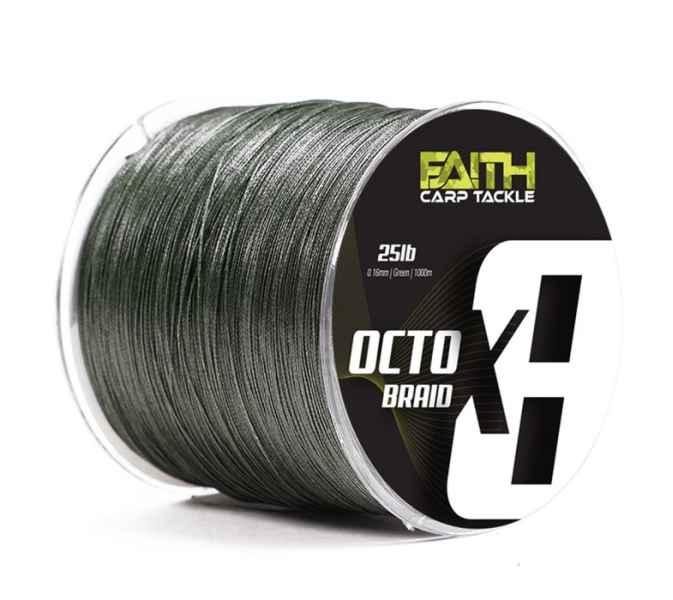 Pletená šňůra Faith Octox8 0,16mm / 1000m
