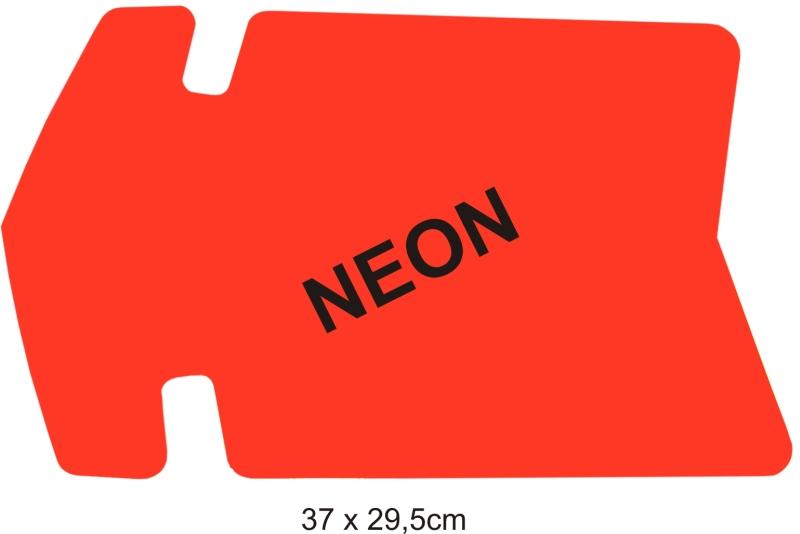 Reklamní šipka-balení 25ks 30x19,5cm neon.žlutá
