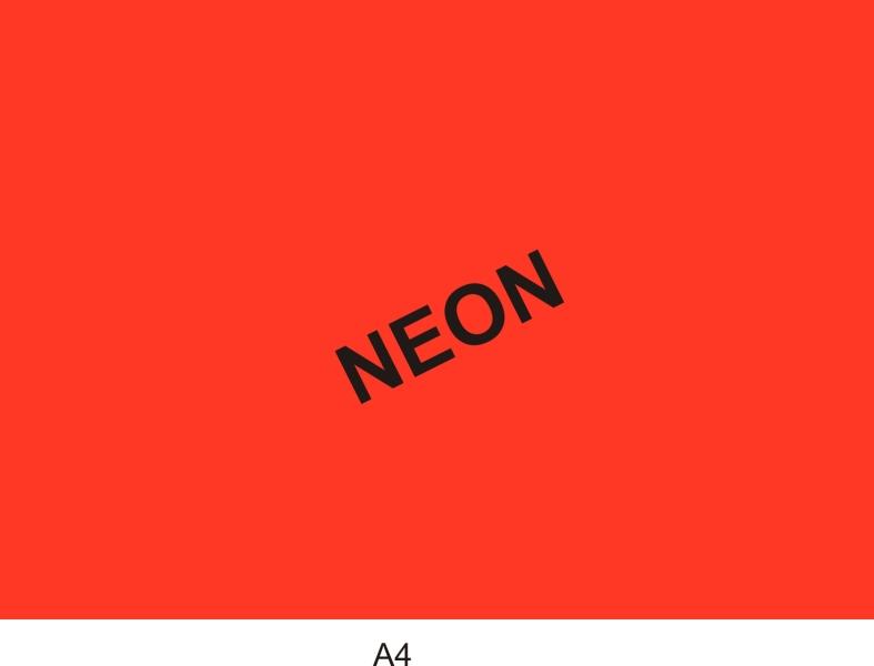 Reklamní tabulka A4 neon.žlutá 1 bal.(1bal=50ks)