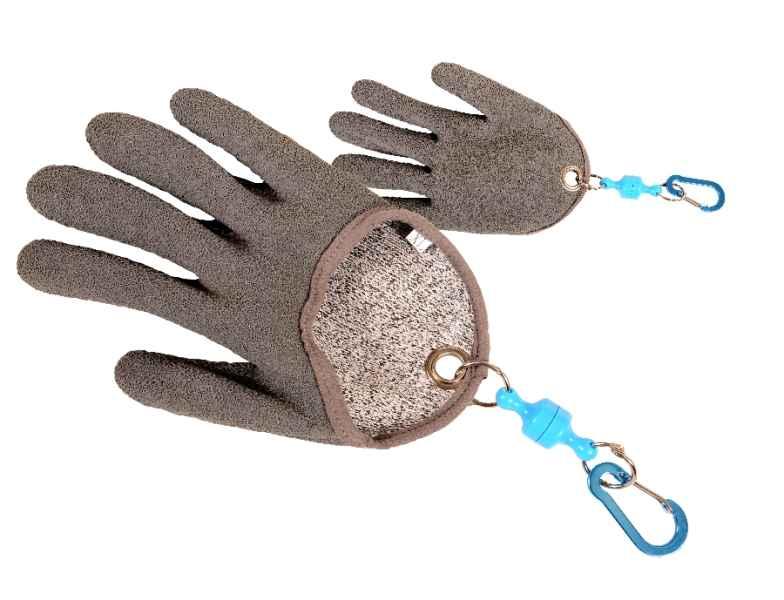 Pogumovaná sumcová vylovovací rukavice s magnetem XL