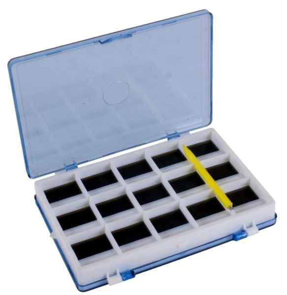 Oboustranná magnetická krabička na háčky 12,5 x 9cm