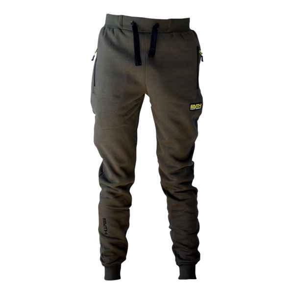 Kalhoty FAITH s kapsami na zip - olivová barva L