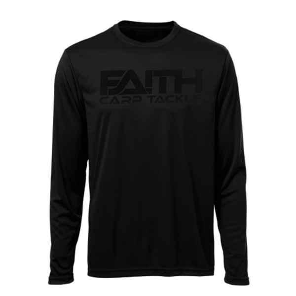 Tričko FAITH dlouhý rukáv - černé XXXL