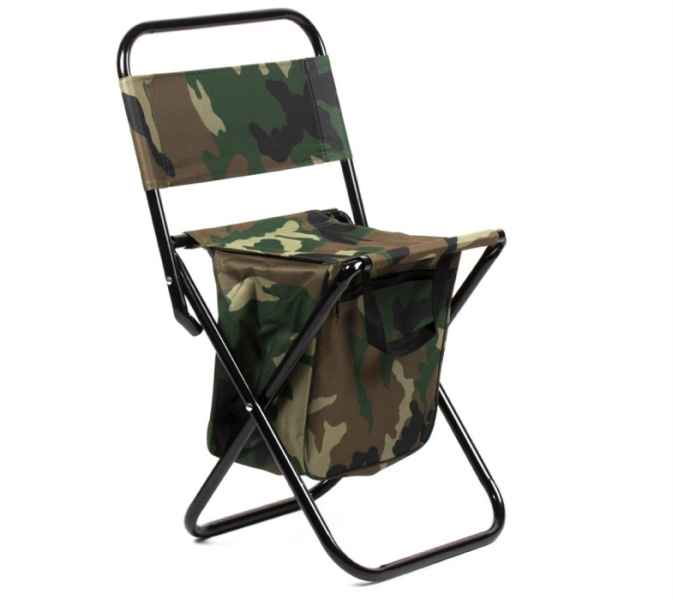 Rybářská rozkládací židle s opěrkou