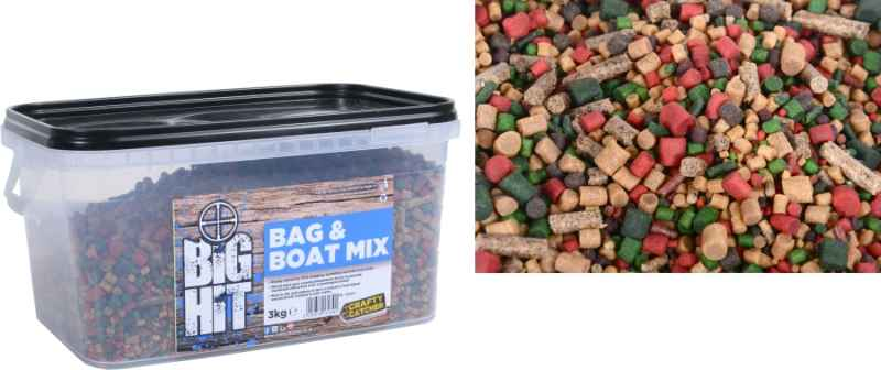 Mix pelet Crafty Catcher Big Hit Mix & Boat 3kg