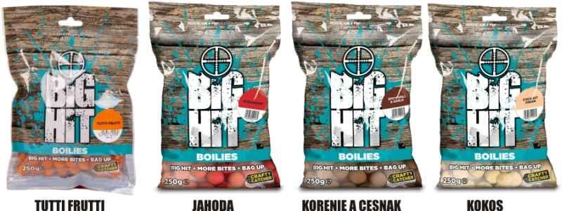 Boilies Crafty Catcher Big Hit 15mm / 250g Coconut Cream