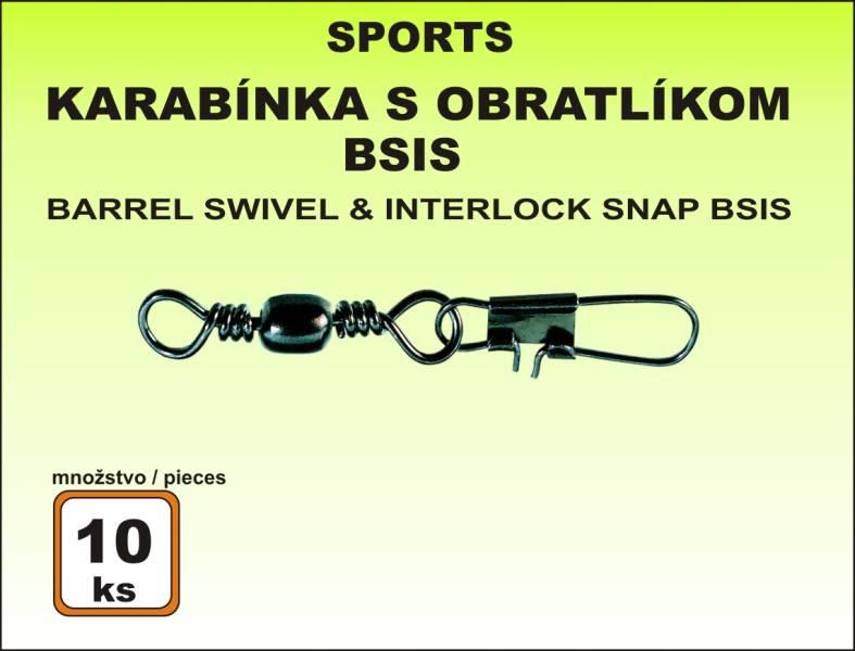 Karabinka s obratlíkem BSIS - 10ks v bal. vel. 10/13kg