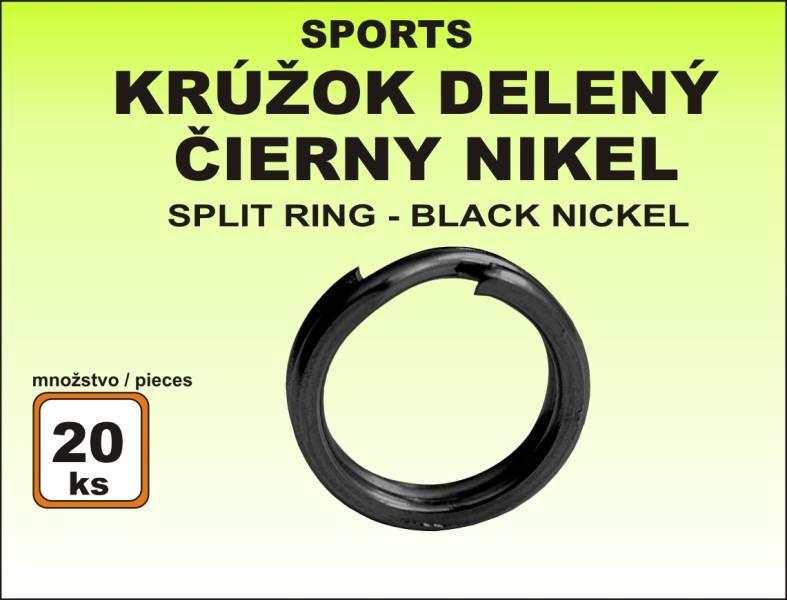 Kroužek Sports - dělený černý velikost 3 / 8kg / 20ks