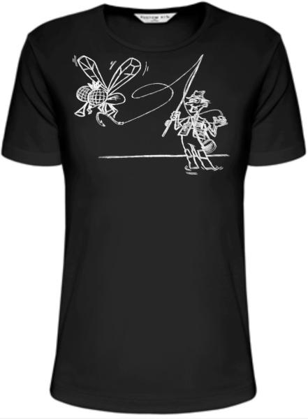Rybářské tričko - rybář lov na mušku XXXL
