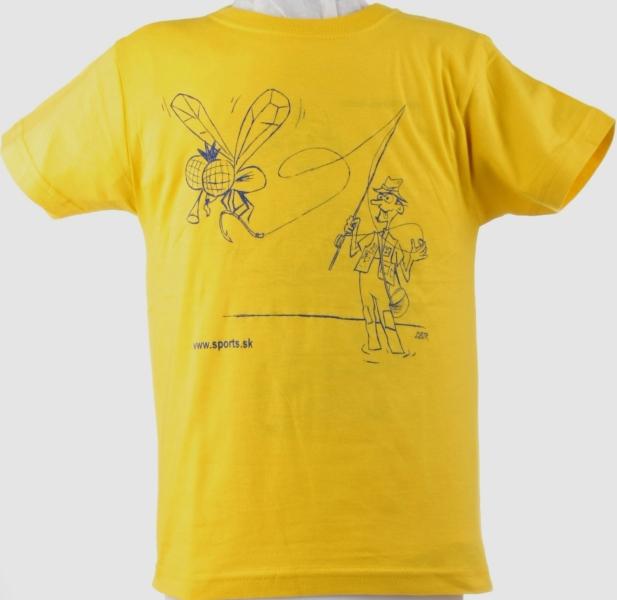 Tričko dětské Rybář muškař žluté č.9(dítě9-10roků)