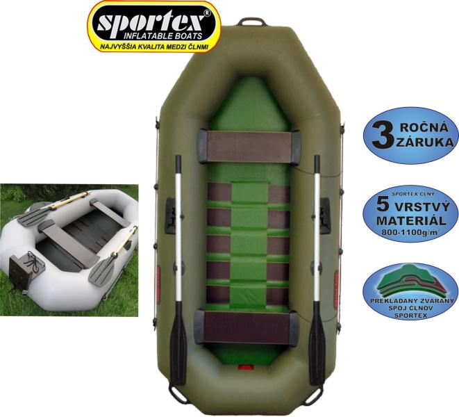 SPORTEX Nafuk.čl.DELTA 260 zelený s podlahou