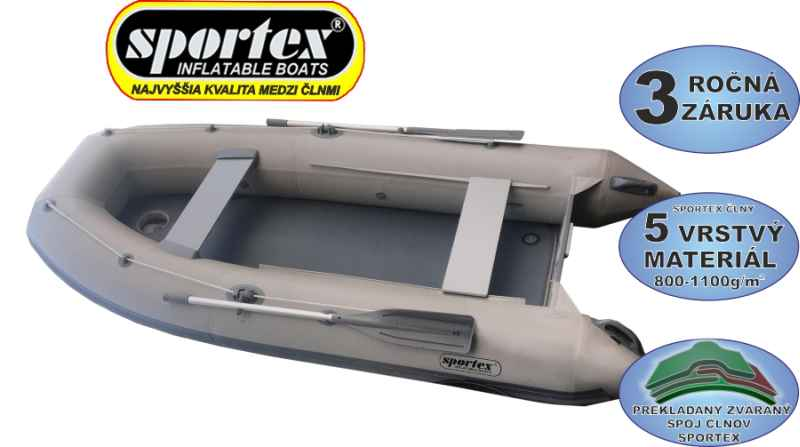 SPORTEX člun Shelf s kýlem a pevnou nafukovací podlahou 270 zelený