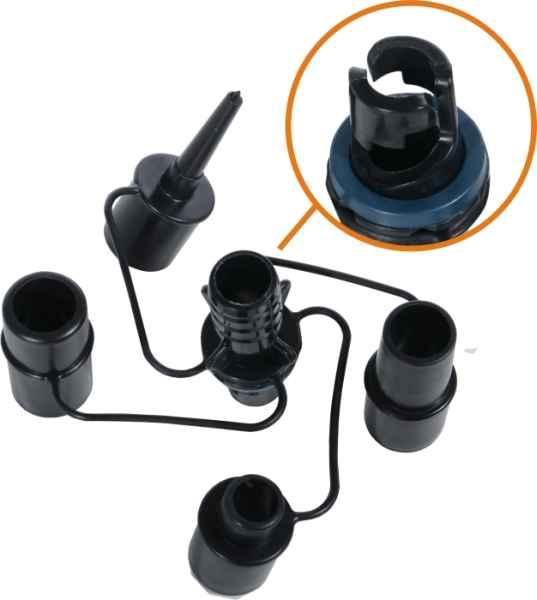 Set adaper pro čluny a nafukovací lehátka 5ks