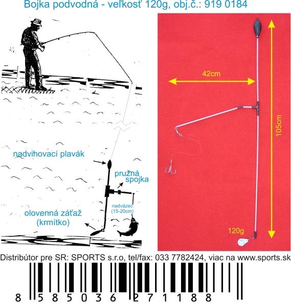 Podvodní bójka 120g / 105cm / 42cm