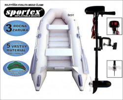 SPORTEX akce člun Shelf 270 + Engine 18lbs