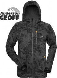 Bunda HOODY3 Geoff Anderson Black/leaf