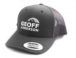 Kšiltovka Geoff Anderson SnapBack síťová s logem šedá