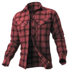 Košile Ezmar Geoff Anderson dlouhý rukáv - červená