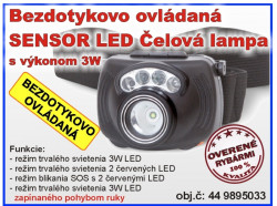 Sensor LED Headlight 3W