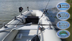 Člun s úchyty FASTEN - Sportex Shelf lamelová podlaha